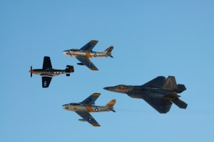 U.S. Air Force Heritage Flight (Photo:Yoshitomo Aoki)