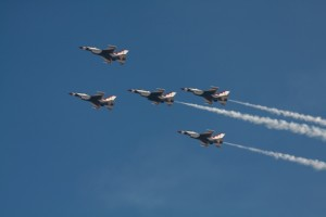 "USAF Air Demonstration Squadron , ""Thunderbirds"" (Photo:Yoshitomo Aoki)"